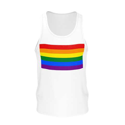 LGBT Color Meanings, Men's Sleeveless White Tank-Top