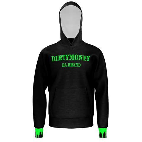 DIRTYMONEY DRIP HOODIE Black/Green