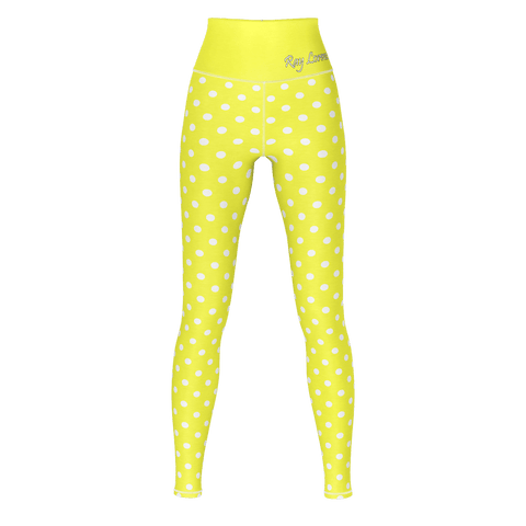 Polka Dot Yoga - Lemon Yellow