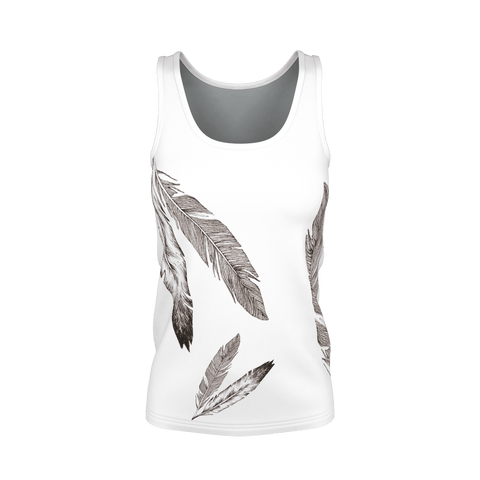 Feathers Tank Top for Woman
