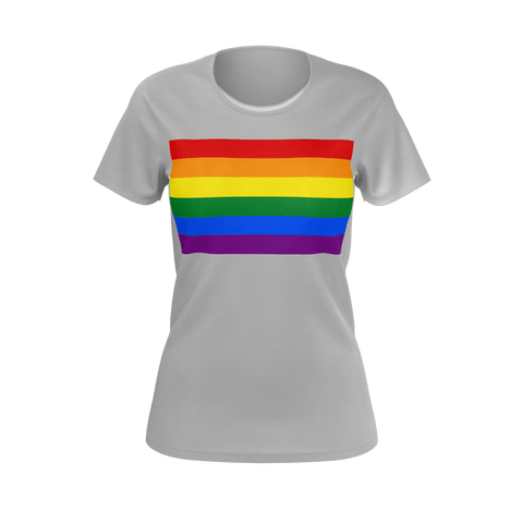 LGBT Color Meanings, Woman's Short Sleeve Grey Shirt