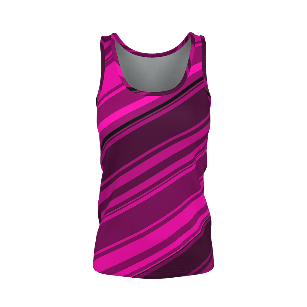 Black/Pink Diagonal Striped Women's SJ Tank Top