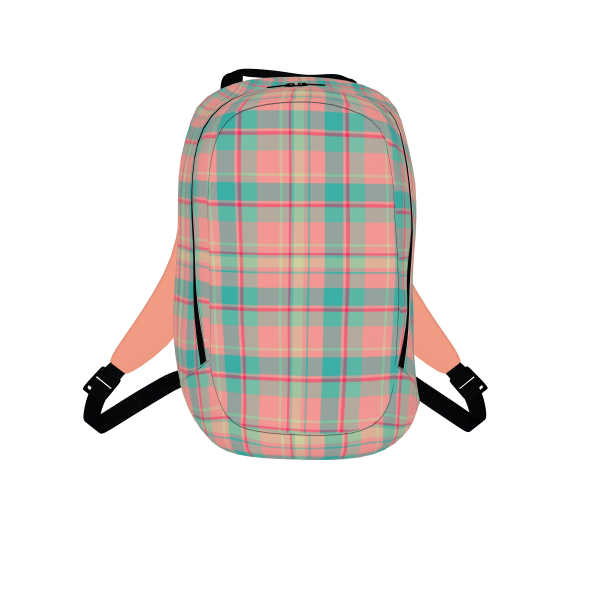 Summer Plaid Twill Backpack