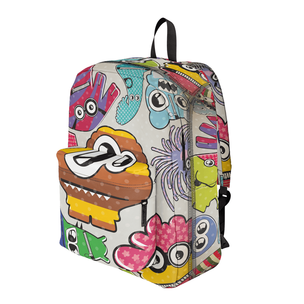 School Bus Aliens Backpack Mushroom