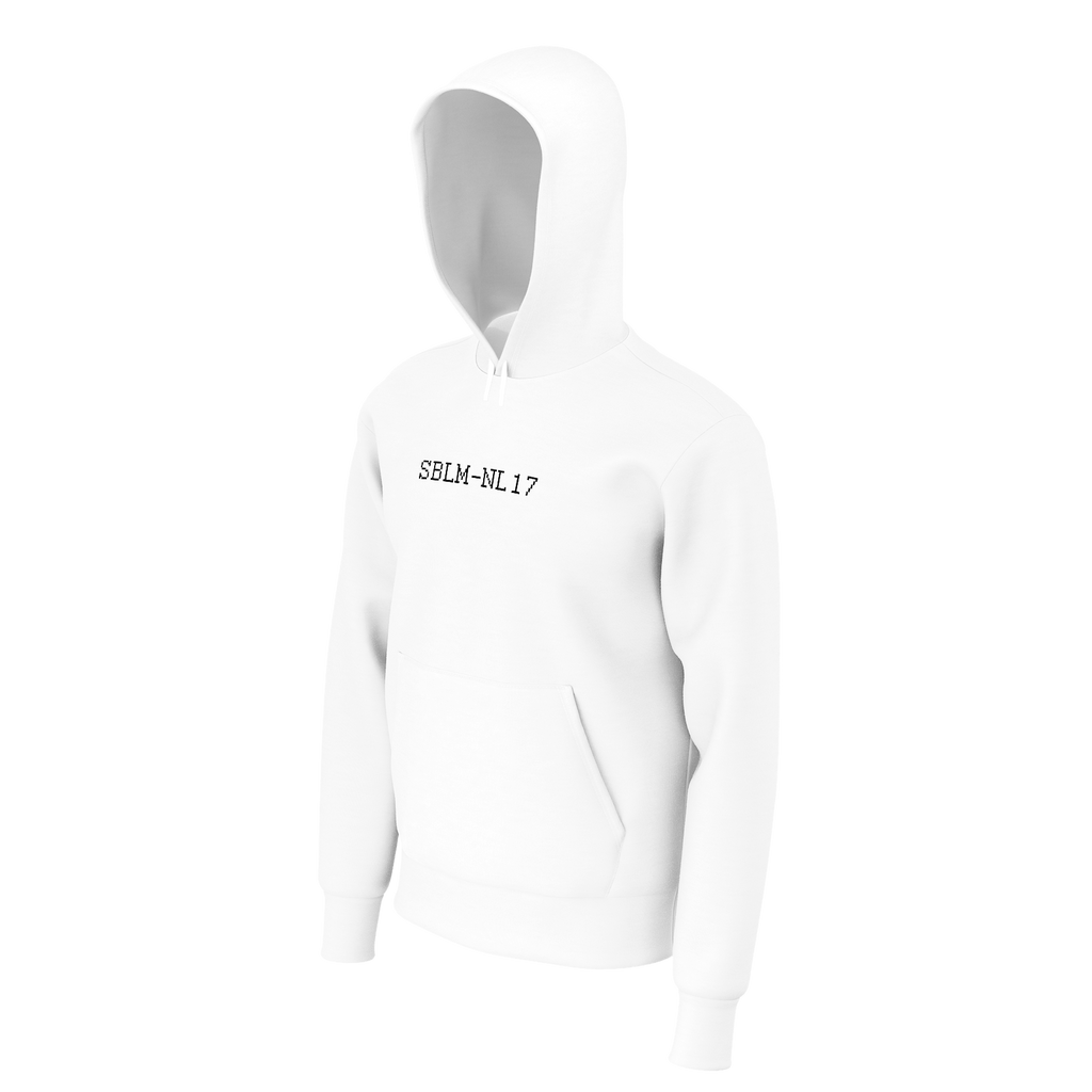 SBLM-NL17 embroided White Hoodie