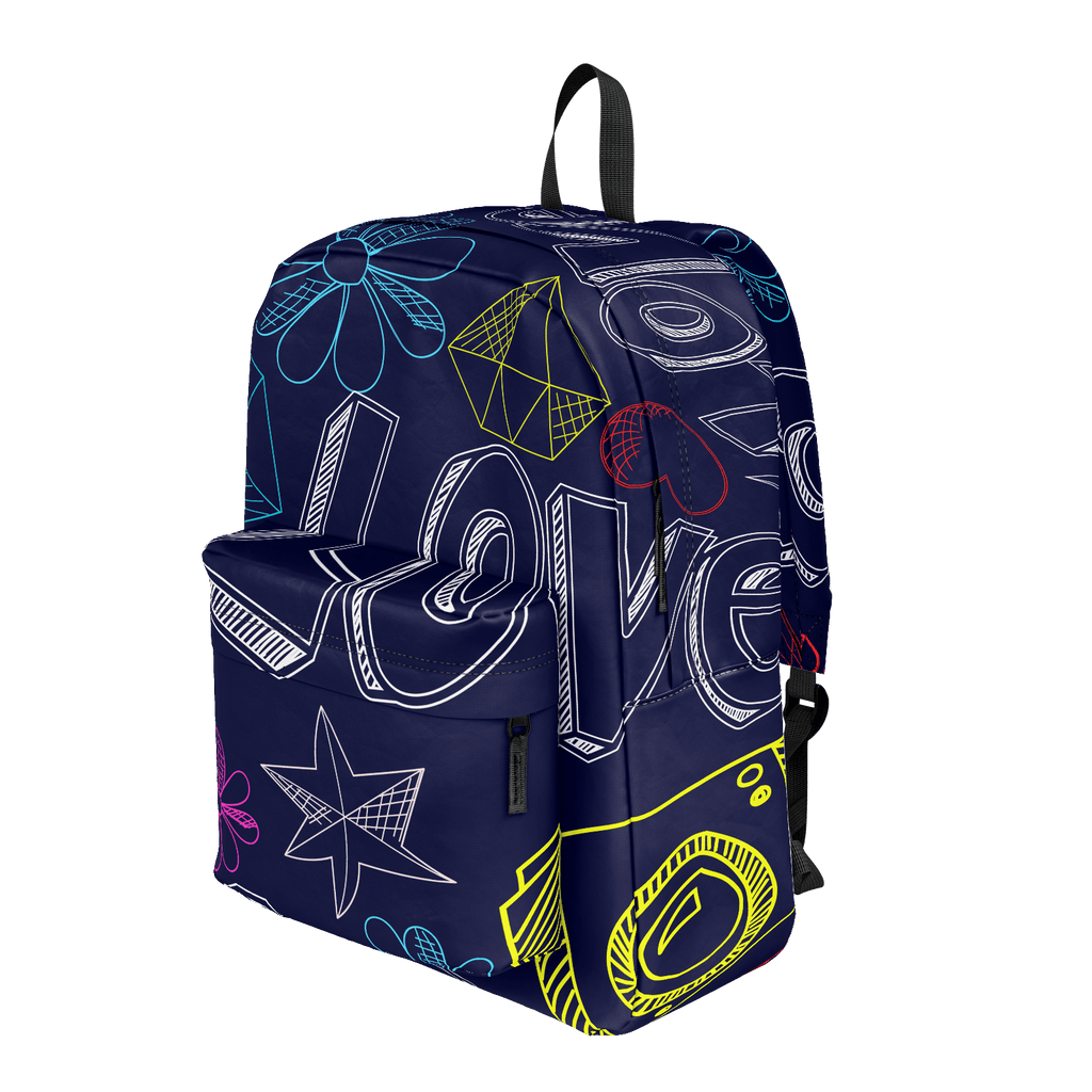School Bus Aliens Backpack Love