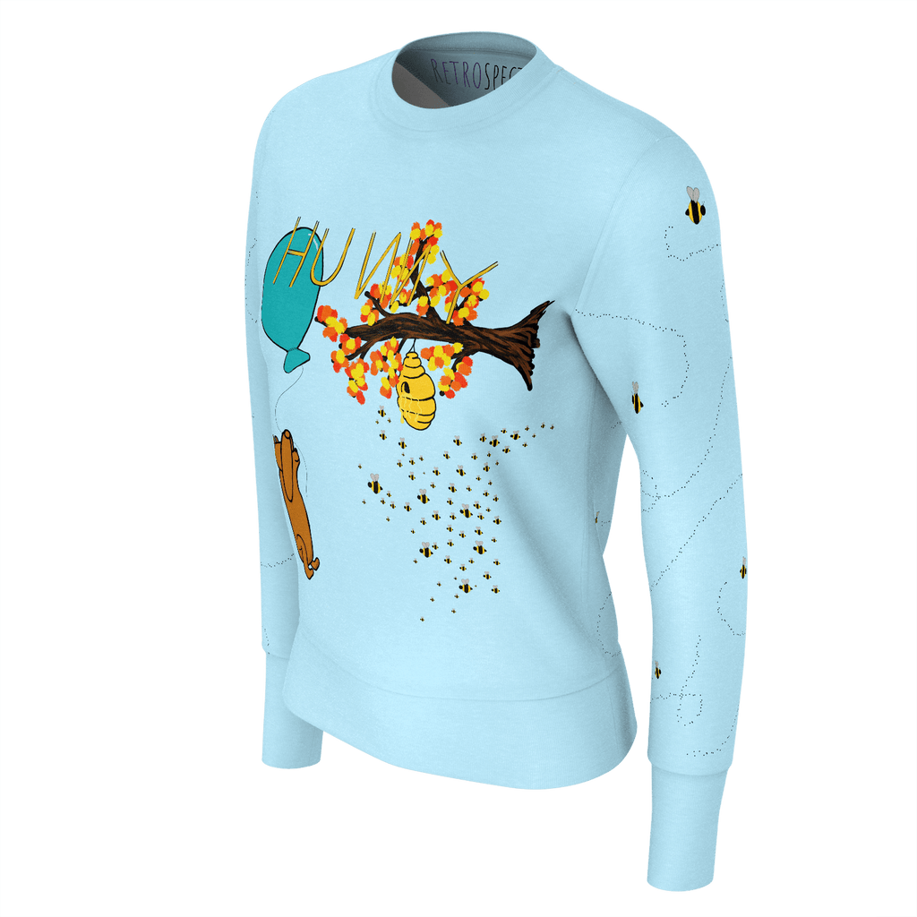 HUNNY Women's Sweatshirt w/bees (Light Blue)
