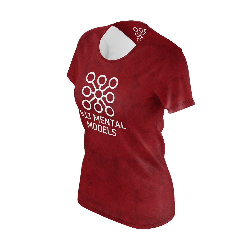 Women's red logo shirt - recycled poly