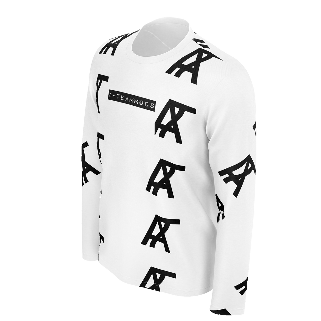 A-TeamLogo Pattern Mens Long Sleeve