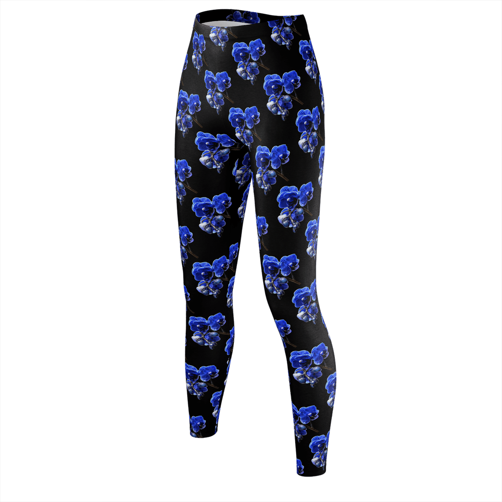 The Kalytheo leggings with blue orchids