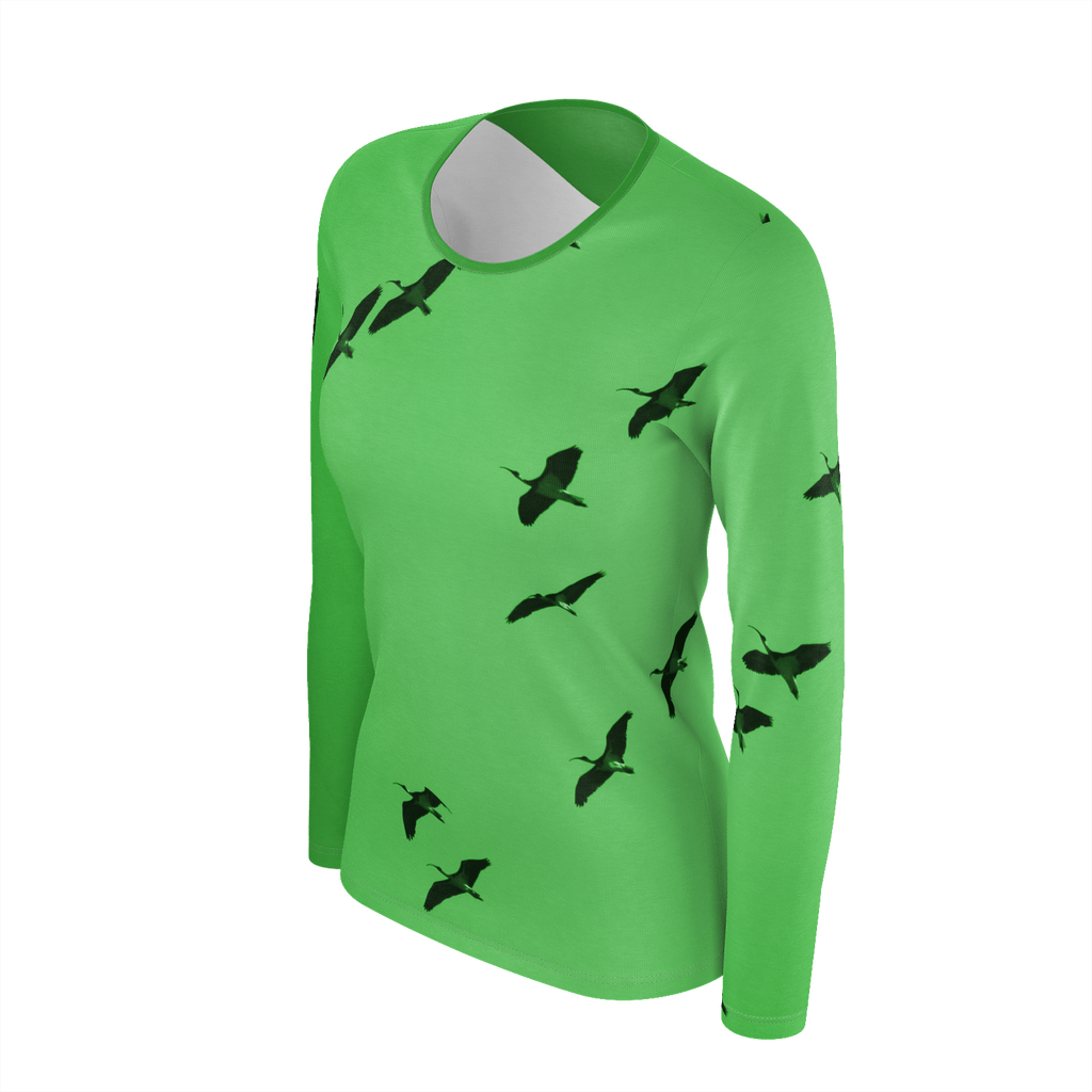 IbisSky Green Long Sleeve Top