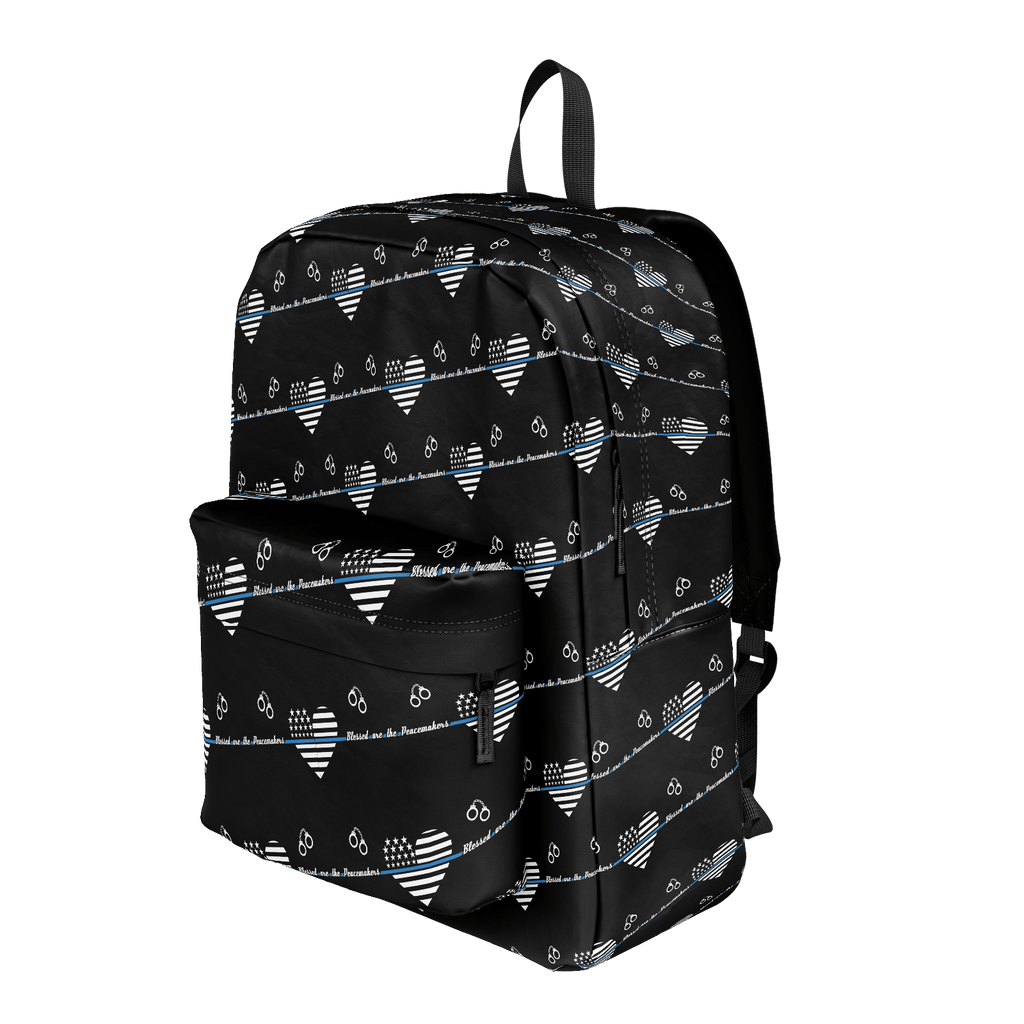 Blessed Are The Peacemakers Thin Blue Line Backpack