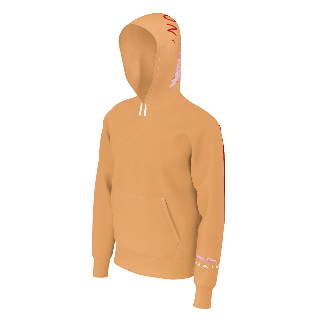 JAMAL MAISON BROWN HOODIE WITH BACK