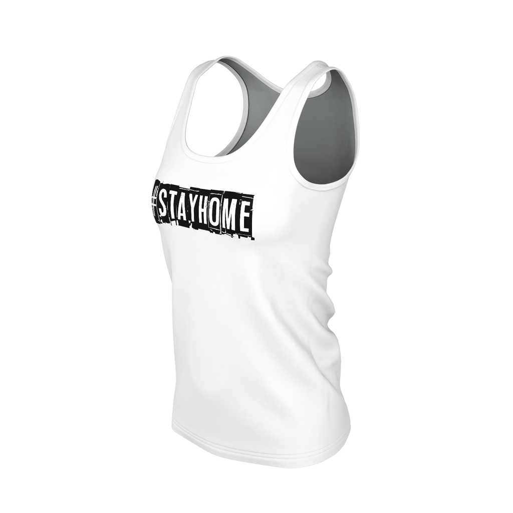 #StayHome Women's SJ Tank Top(White 2)