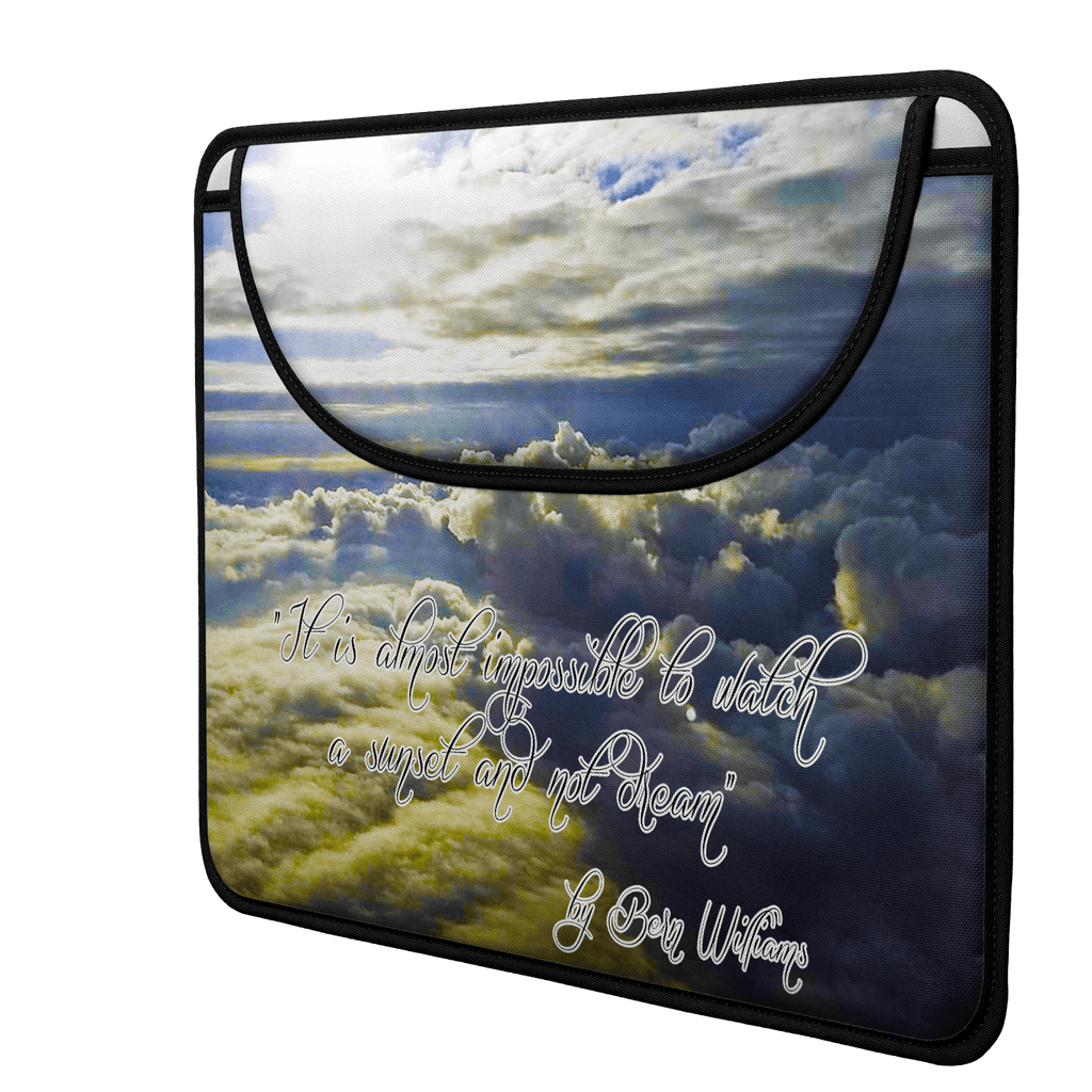 Above the Clouds (Quote) Envelope Laptop Sleeve
