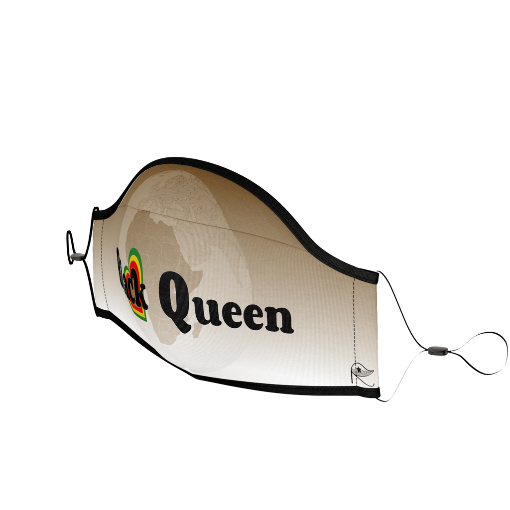 PPE Mask : Black Queen (African Brown)
