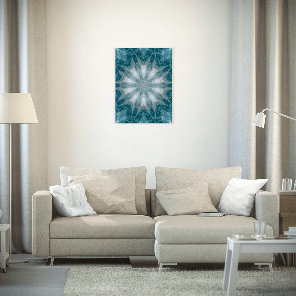 Poster - Mandala in Green, White and Pink tones