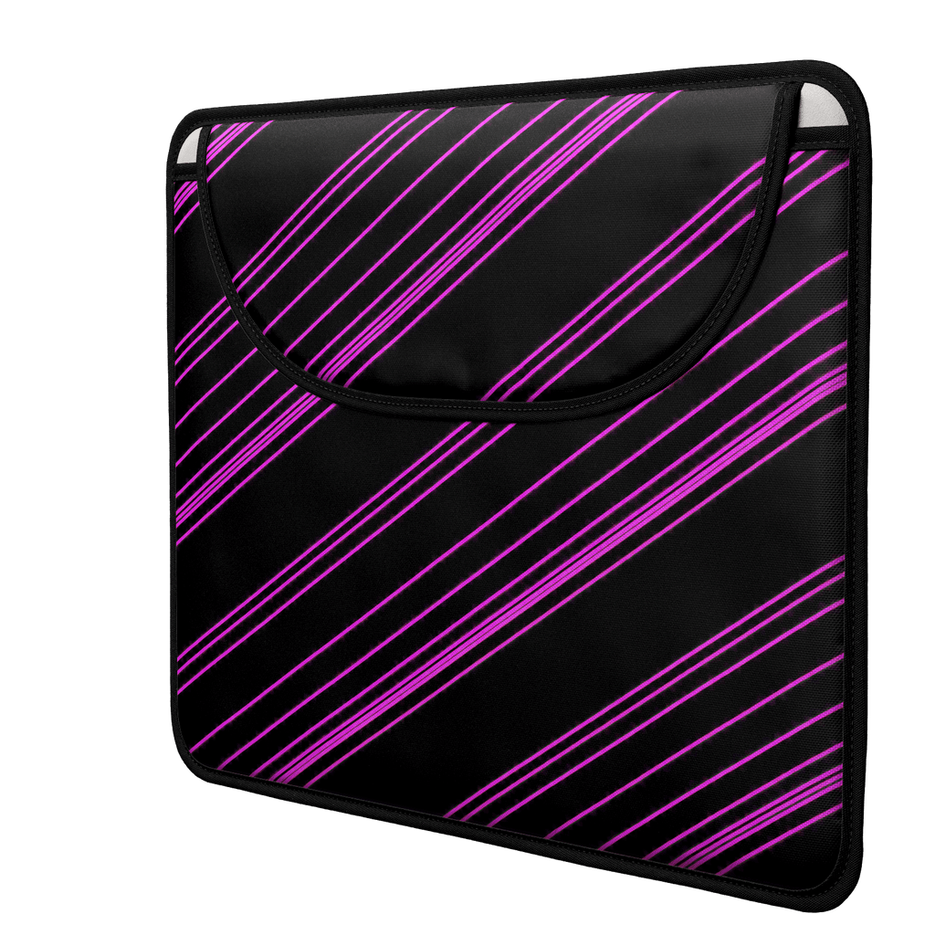 Pink/Black Diagonal Striped Envelope Laptop Sleeve