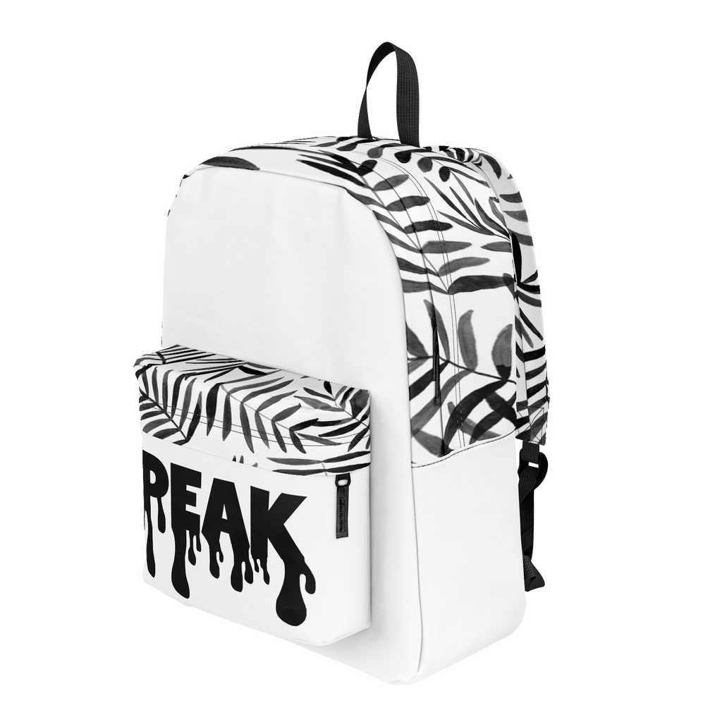 Black and White Leaves Peak Backpack