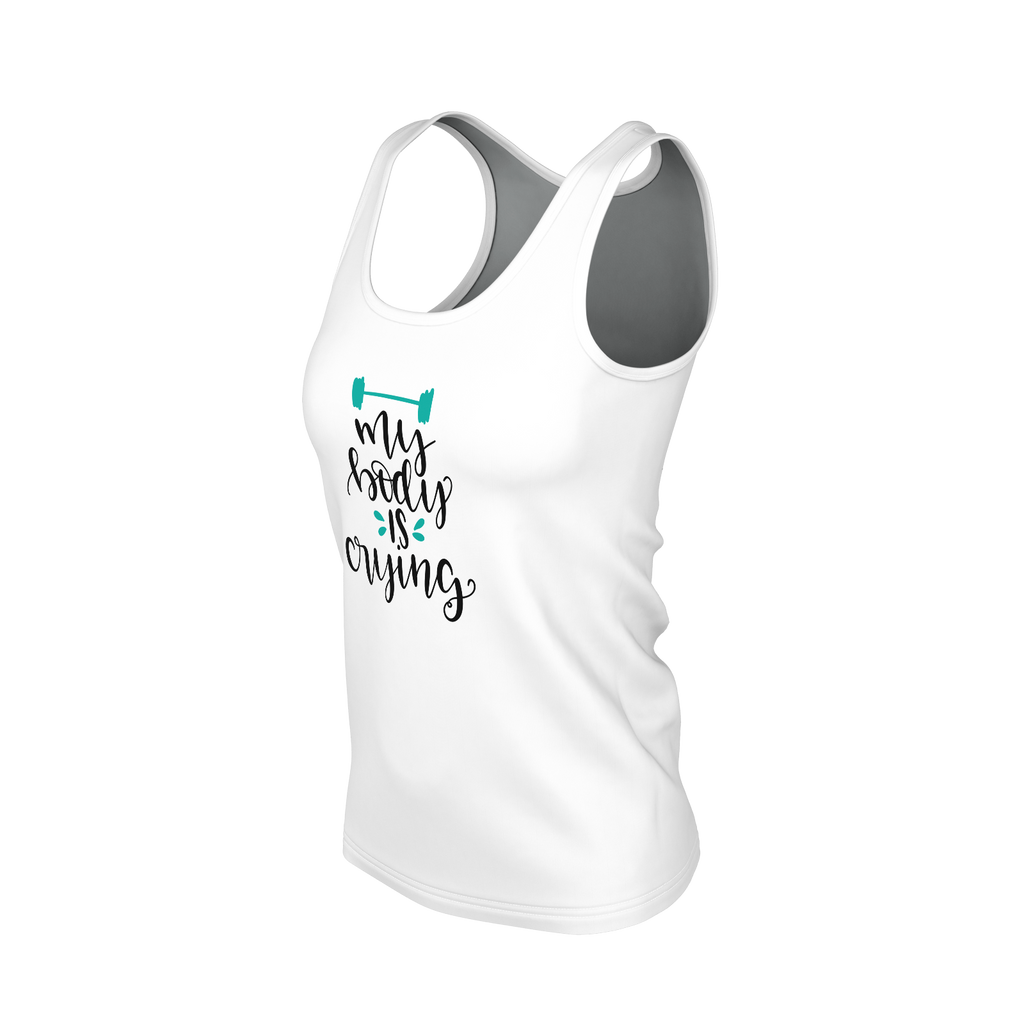 My Body Is Crying Women's Tank