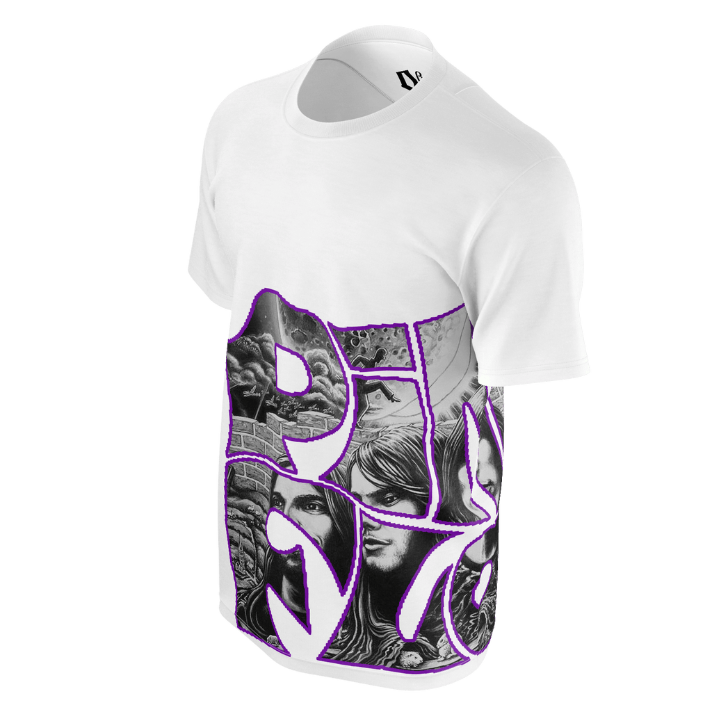 Floyd (purple) Men's white T-Shirt