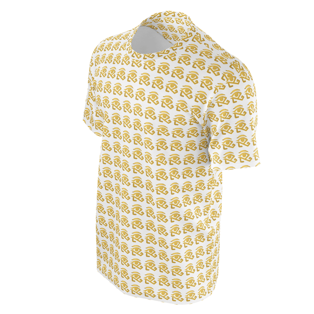 White shirt with small gold 360