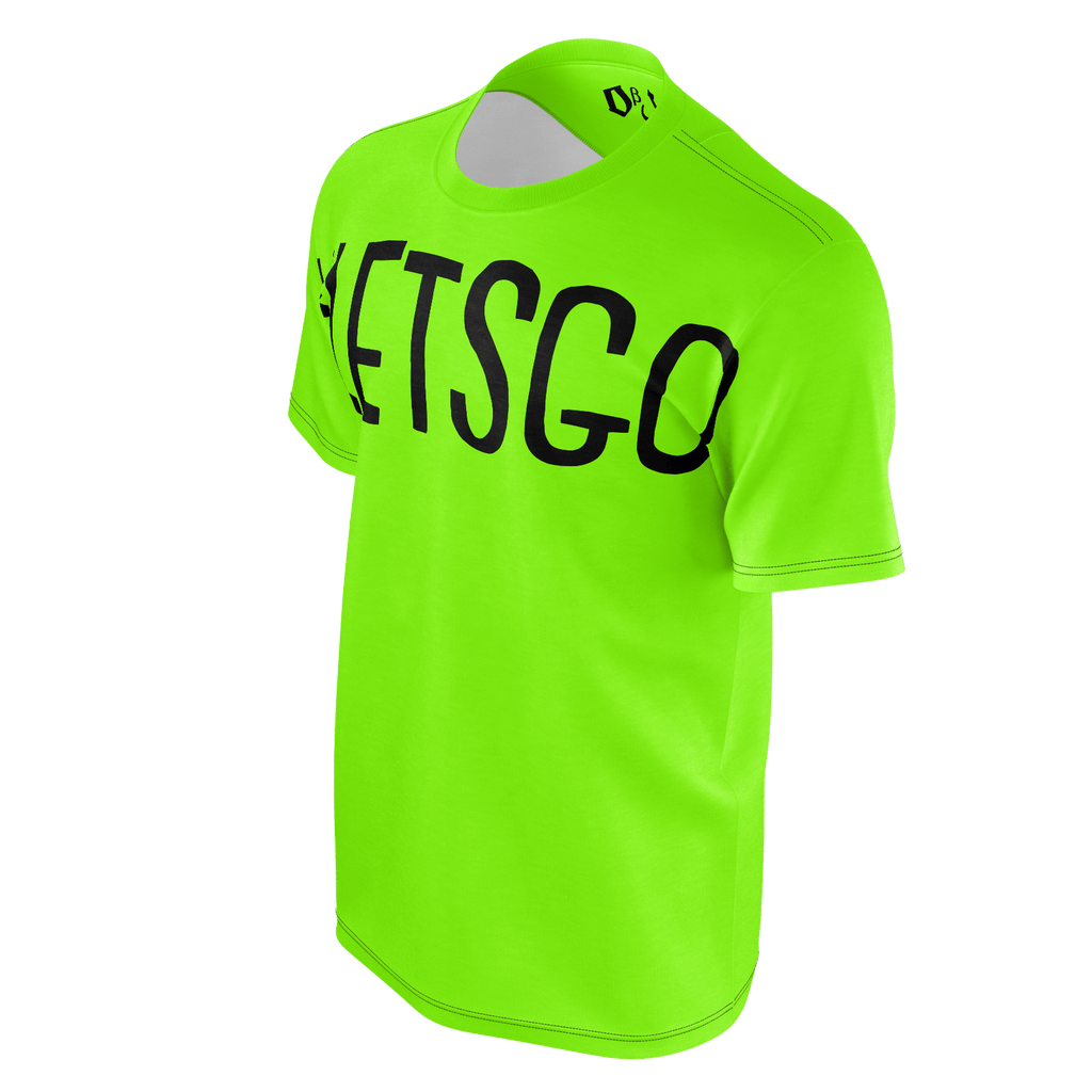 #LetsGo Men's T-Shirt (Neon Green)