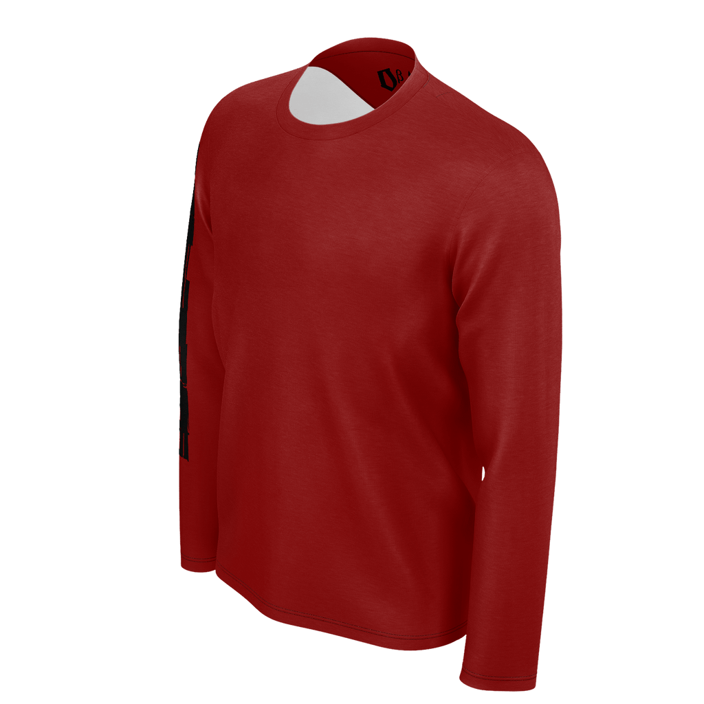 #StayHome Men's Long Sleeve SJ T-Shirt (Maroon 2)