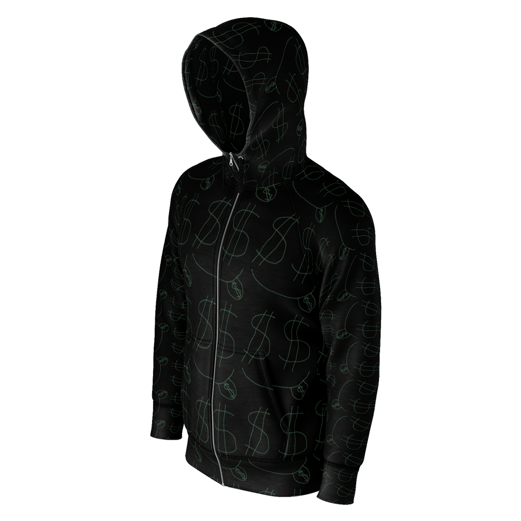 Money Man Zip-Up Hoodie