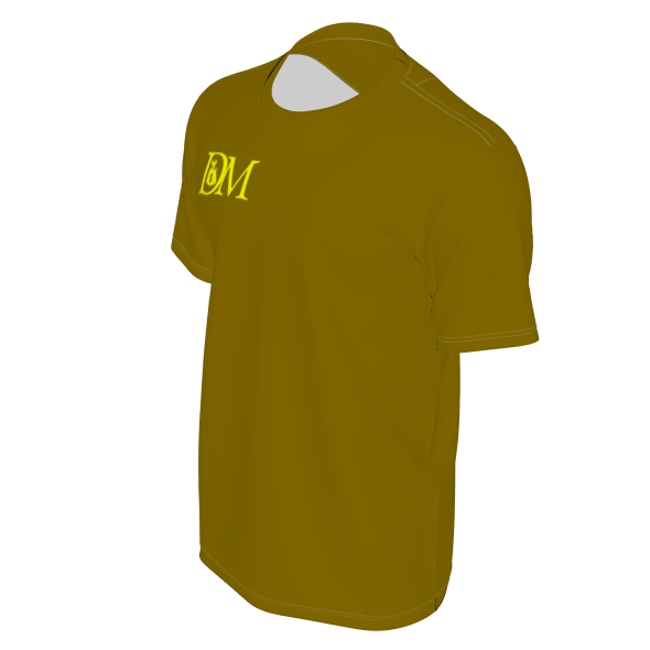 DIRTYMONEY LOGO TEE BROWN/ YELLOW