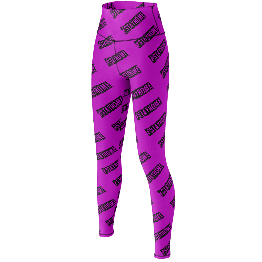 #StayHome Yoga Pants (Pink)