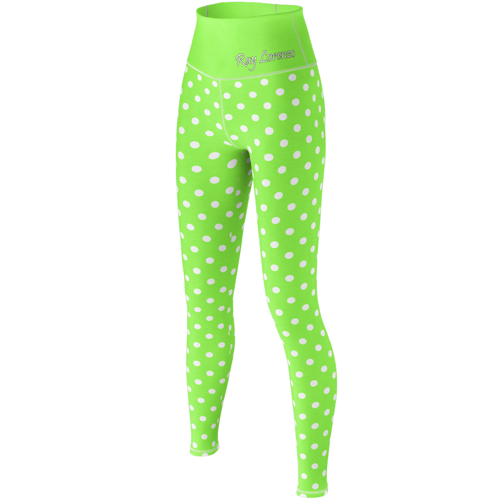 Polka Dot Yoga - Lime Green