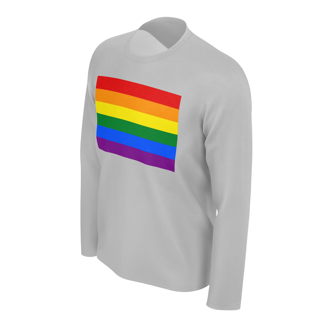 LGBT Color Meanings, Men's Long Sleeve Grey Shirt