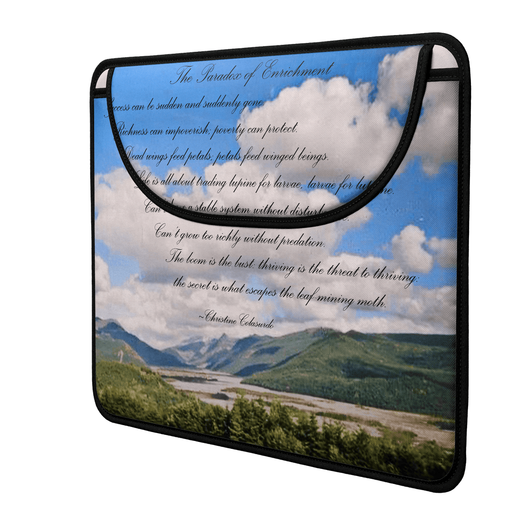 Mount St. Helens (Poem) Envelope Laptop Sleeve