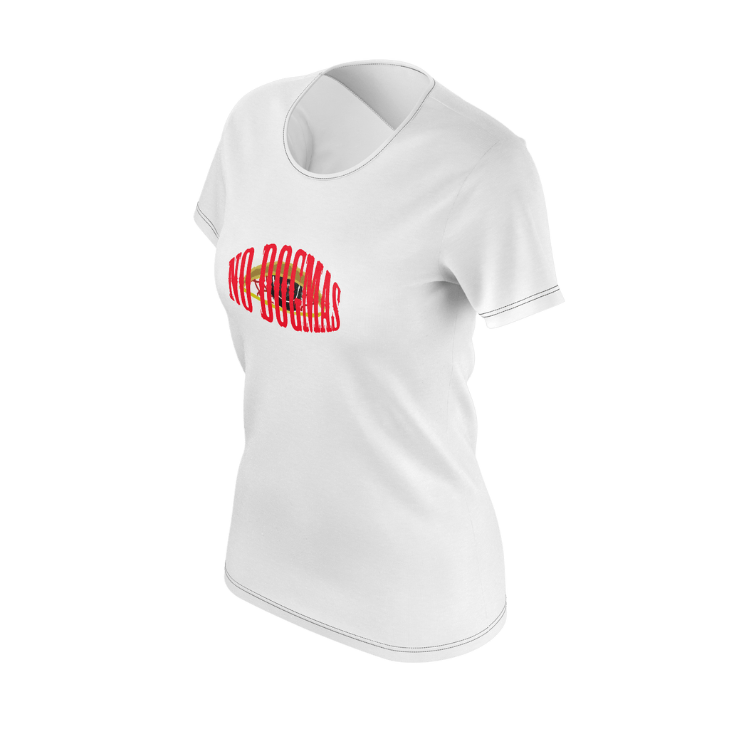 NO DOGMAS WOMENS T WHT