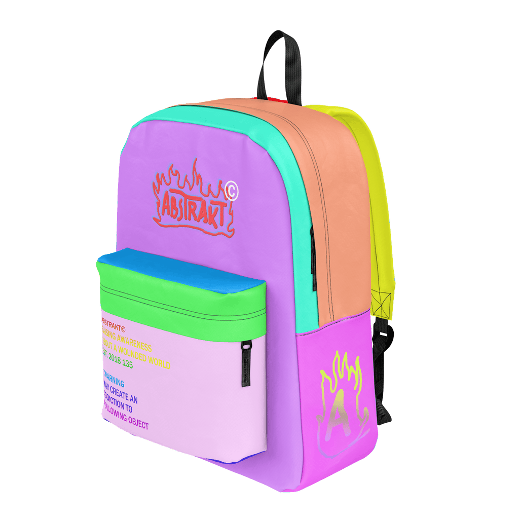 Flame Logo Backpack (Rainbow)