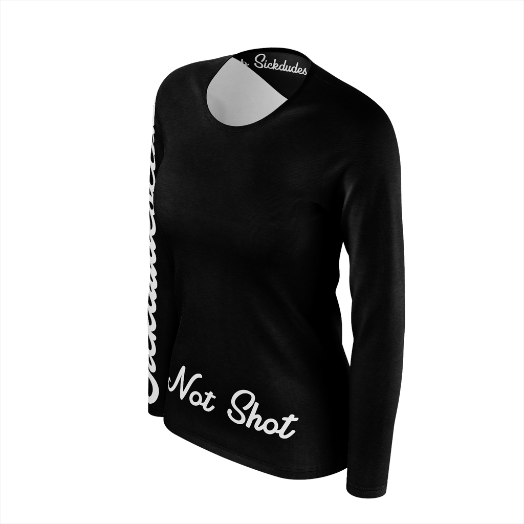Not Shot B&W ladies Long Sleeve