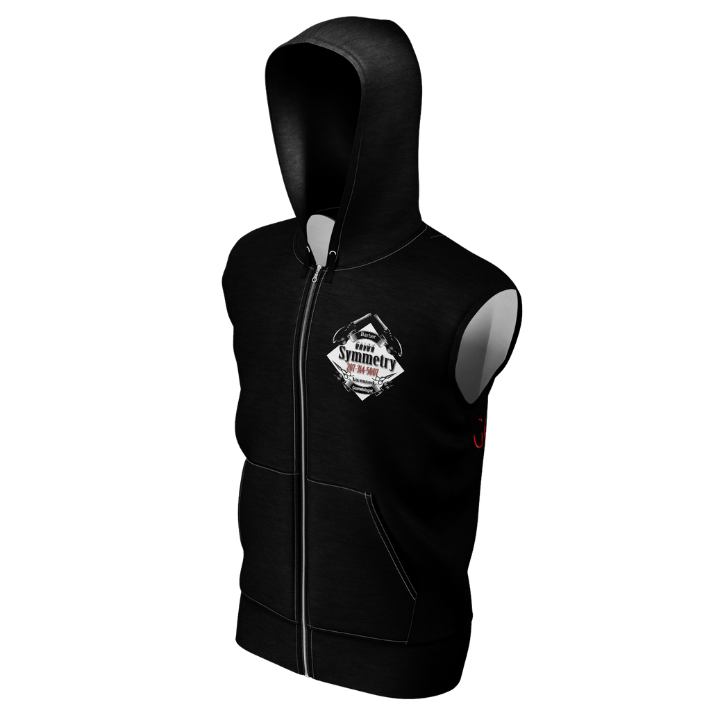 Women's Sleeveless Hoodie Black