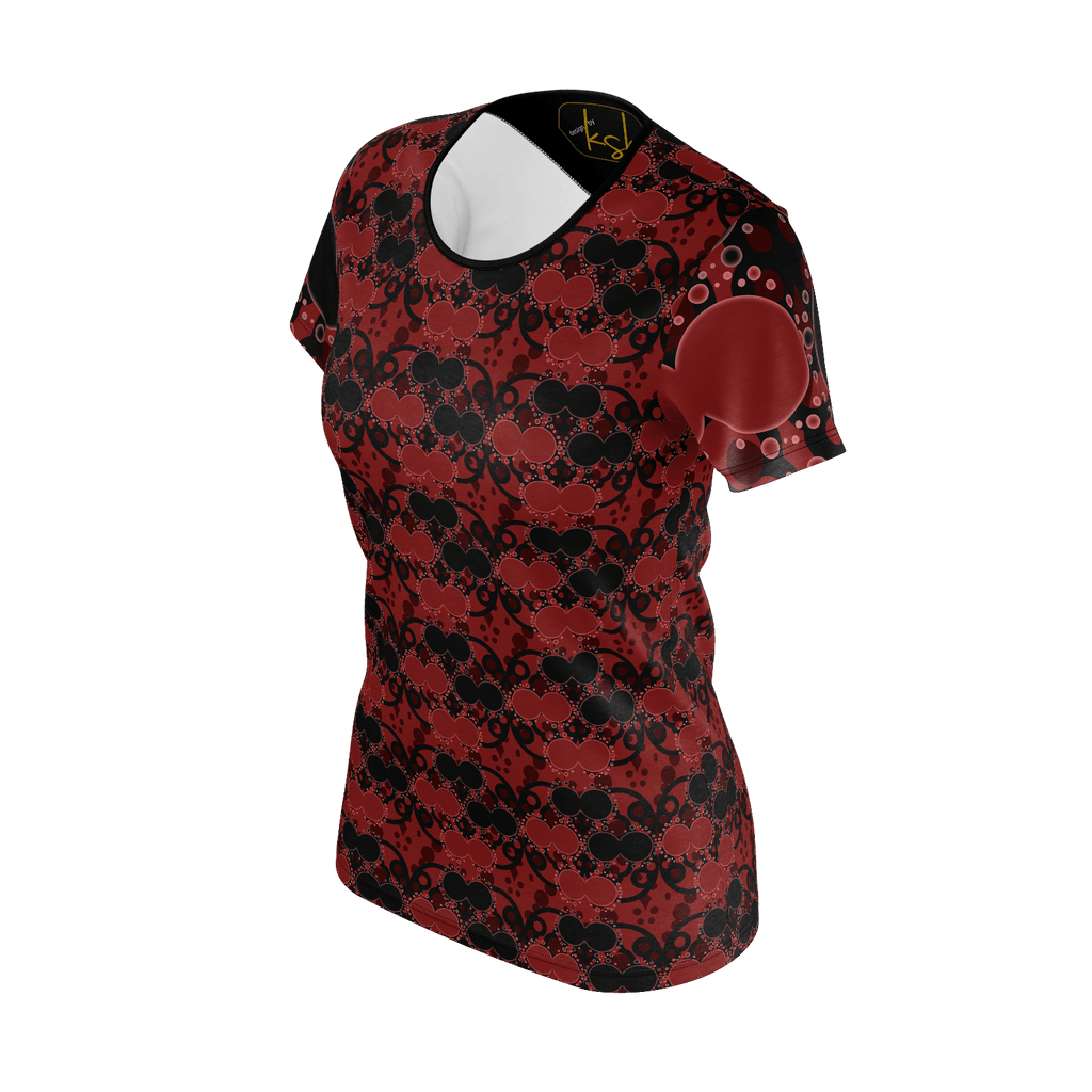 "ksh, ""Circlin Red"", Womens Shirt"