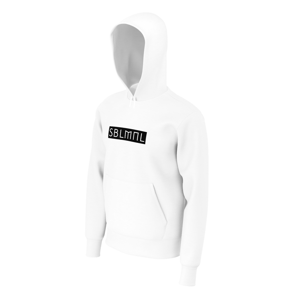 SUBLIMINAL Box Logo back graphic Hoodie (White)