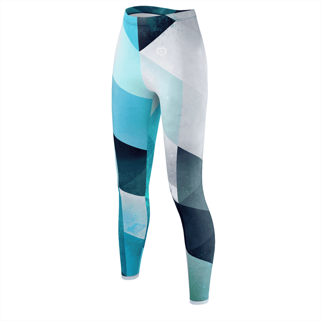 spring blues leggings