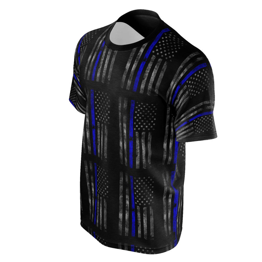 FADED AMERICAN FLAG SHIRT WITH THIN BLUE LINE