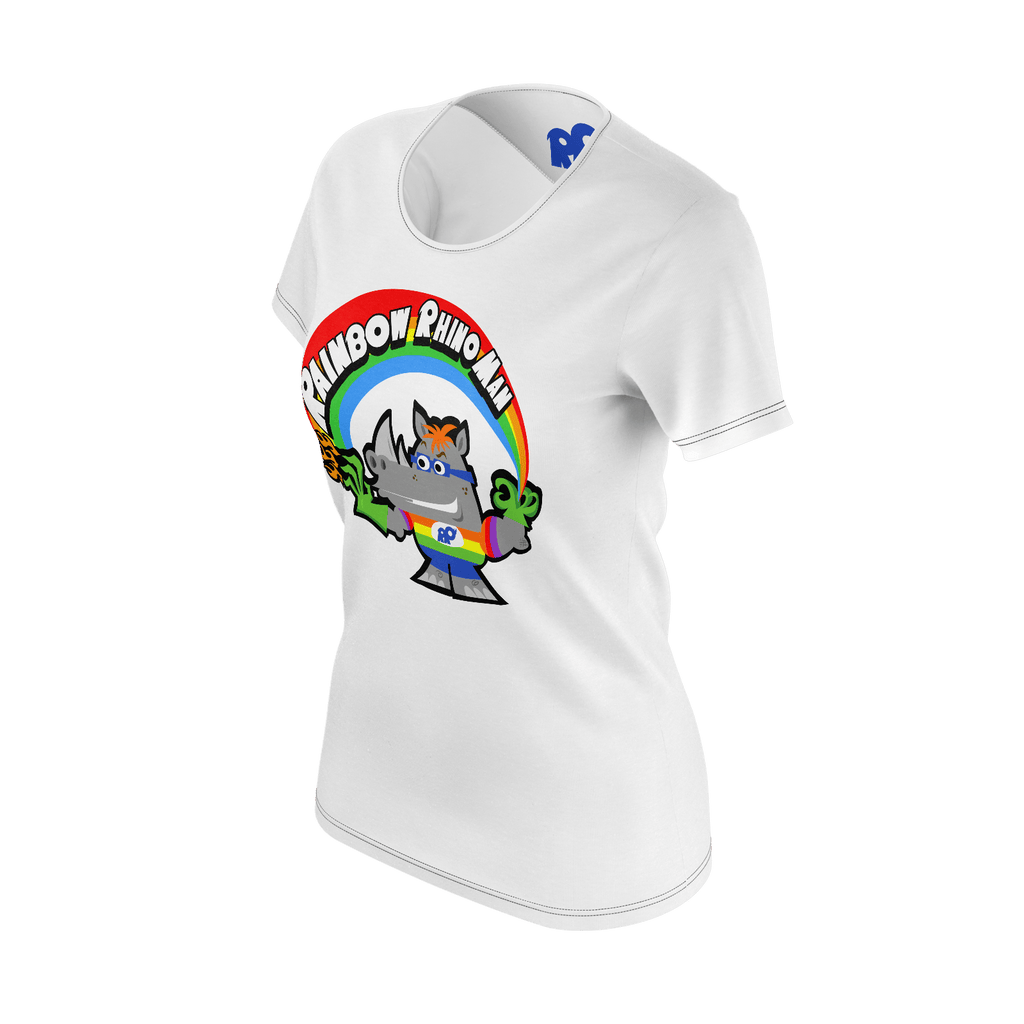 Rainbow Rhino Man (Womens)