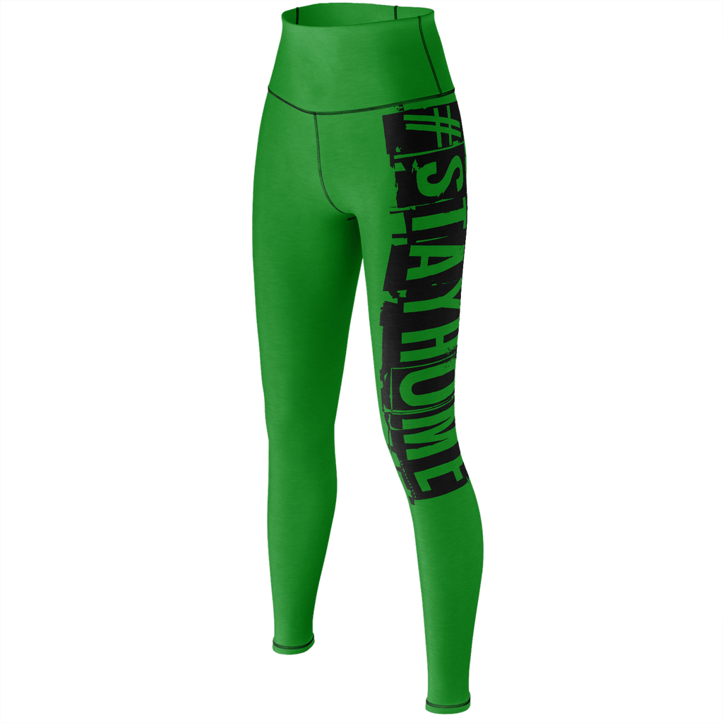 #StayHome Yoga Pants (Green 2)