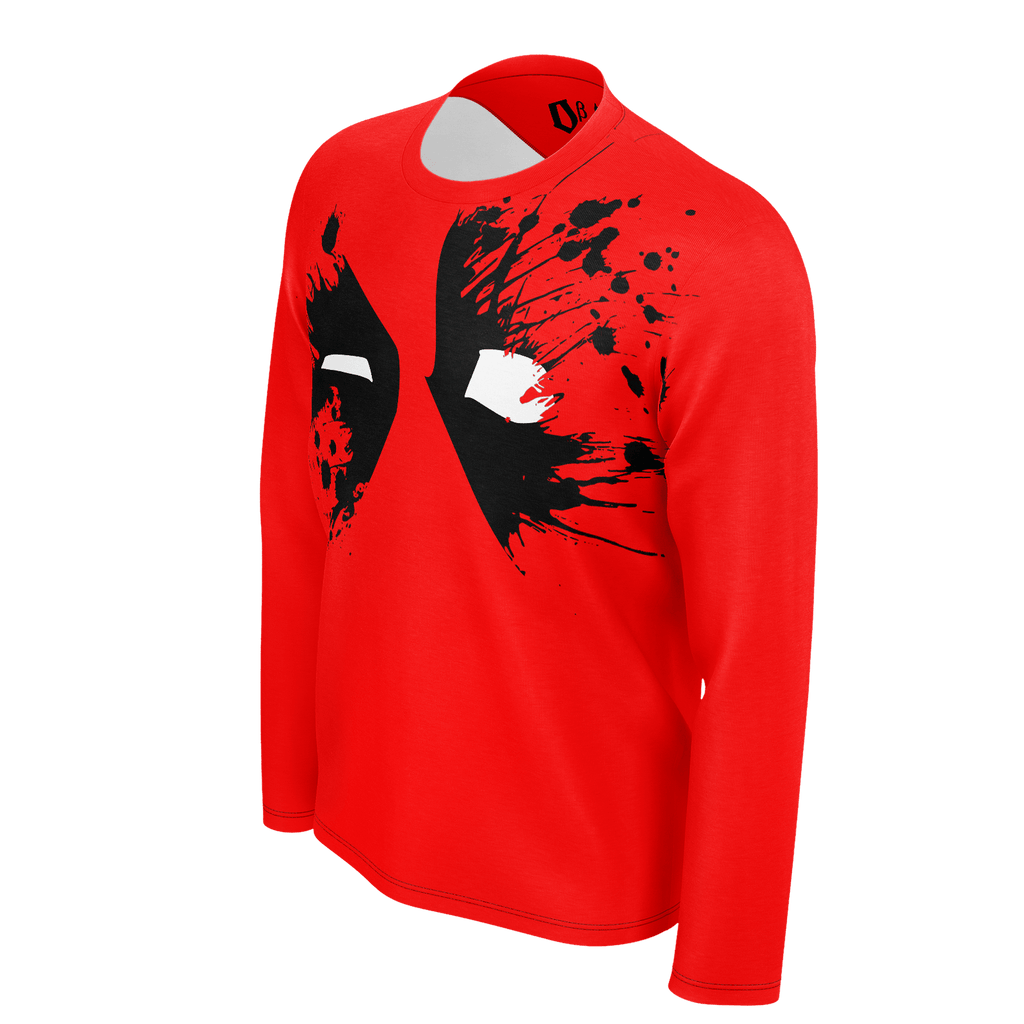 Deadpool Splatter Men's Long Sleeve SJ T-Shirt