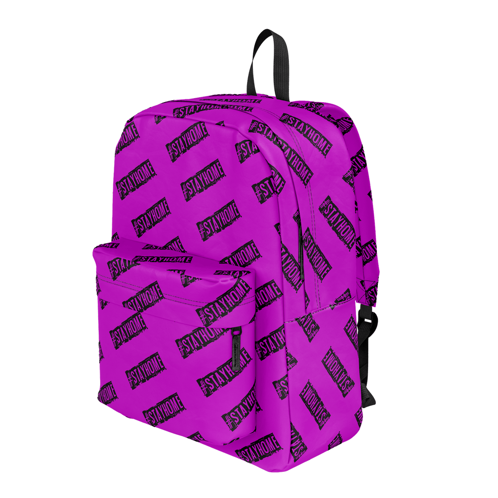 #StayHome Classic Backpack (Pink)