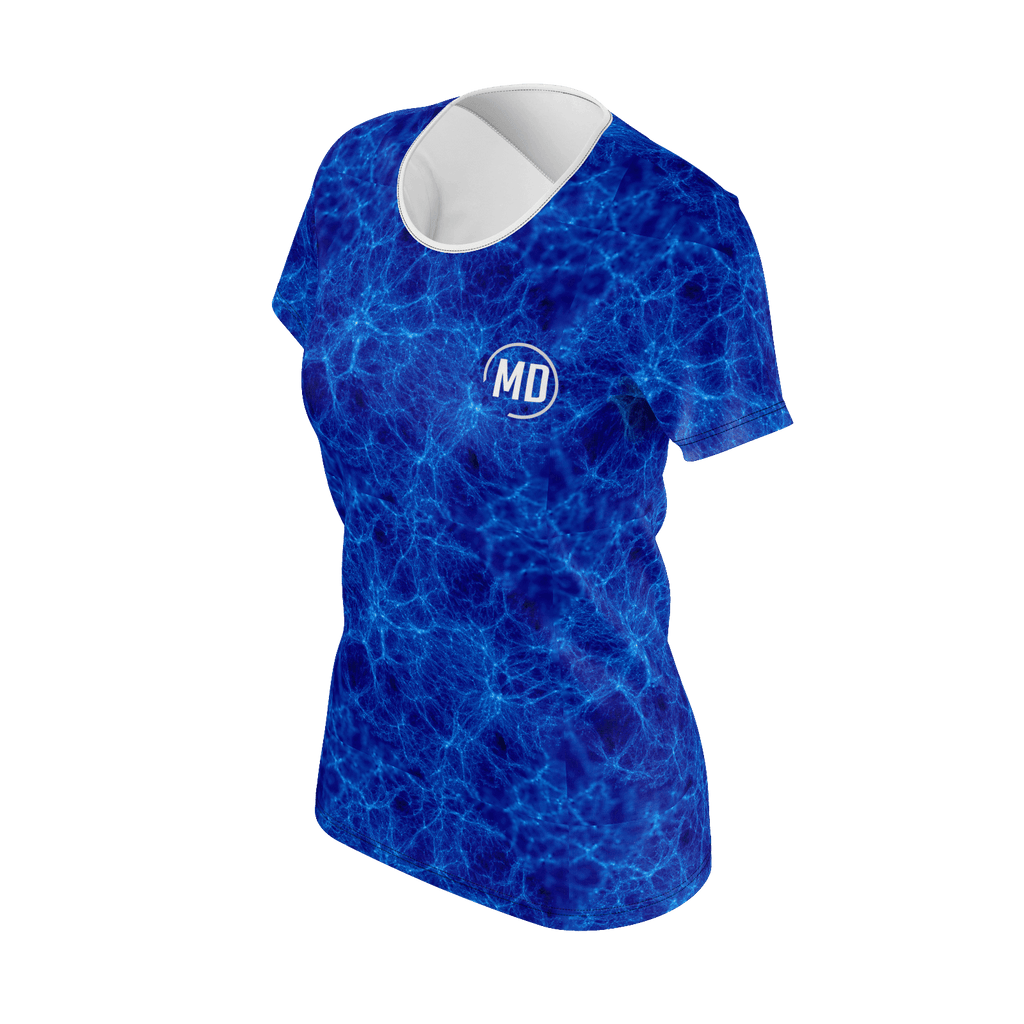 MD Logo Womans Blue Lighting T-shirt