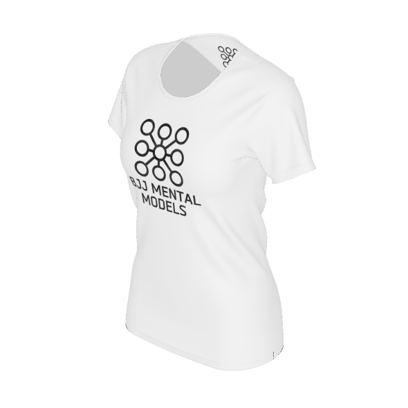 Women's white logo shirt - recycled poly
