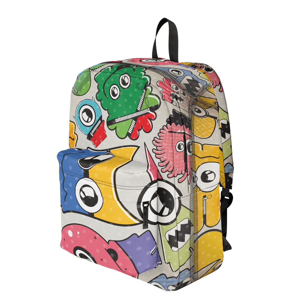 School Bus Aliens Backpack 7