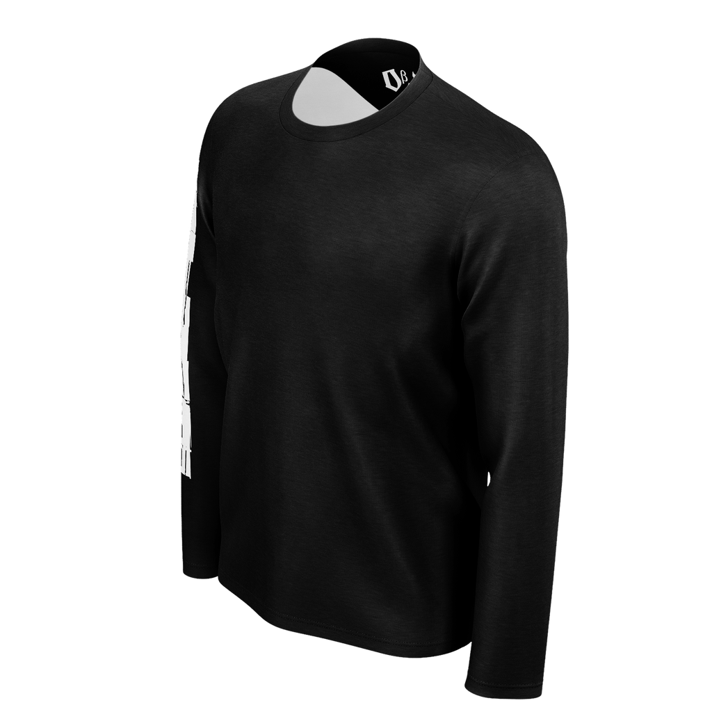 #StayHome Men's Long Sleeve SJ T-Shirt(Black 2)